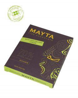 Mayta chocoladereep 70% met gember