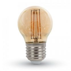 V-TAC Led Filament  4Watt  Warm White 2200 Kelvin Amber Glas G45 E27 (Led kool draadlamp)