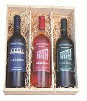 Duo Deluxe drievaks wijnkist Gerbino
