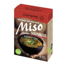 Instant Miso Soeppasta met Zeegroente 4 x15 gram (biologisch)