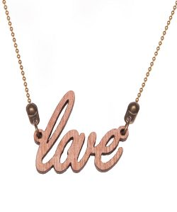 Wooden necklace LOVE | ALL THINGS WE LIKE