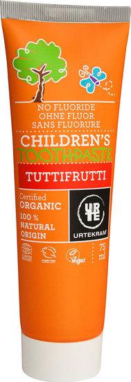 Kindertandpasta zonder Fluor Tutti Frutti (Urtekram) 75 ml