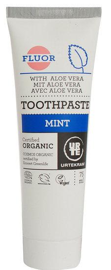 Tandpasta Mint met Fluor (Urtekram) 75 ml