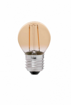 Led Filament Amberkleurig  2Watt  Warm 2200Kelvin G45 E27 (Led kool draadlamp)