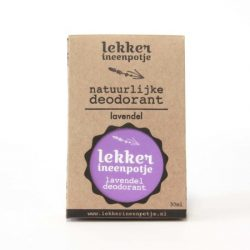 Smeerbare Deodorant Lavendel (lekkerineenpotje)
