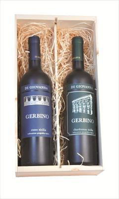 Duo Deluxe tweevaks wijnkist Gerbino