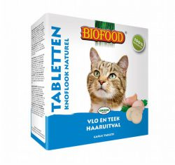 Biofood Anti-vlo tabletten Naturel kat