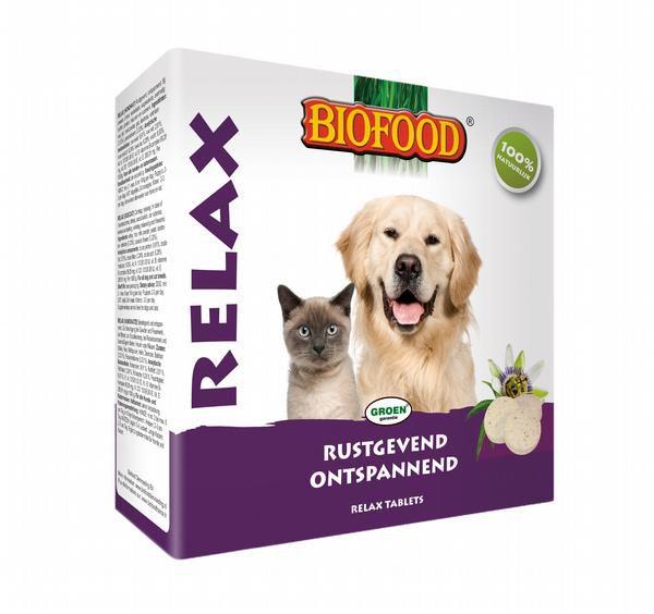 Biofood Relax tabletten hond/kat 100 st.