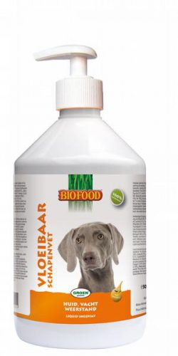 Biofood Vloeibaar Schapenvet met Zalmolie hond