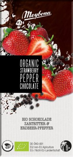 Meybona chocolade aardbei peper Bio 100gr