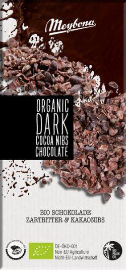 Meybona chocolade dark cacao nibs Bio 100gr