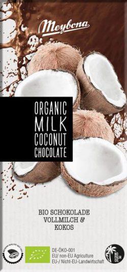 Meybona chocolade melk cocos Bio 100gr