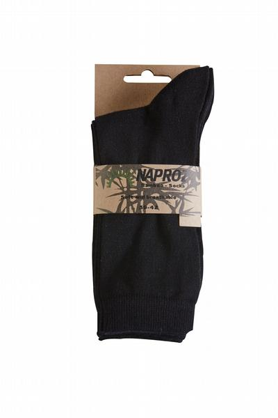 Naproz Airco Sokken bamboo 3-pak 35-38 zwart dames