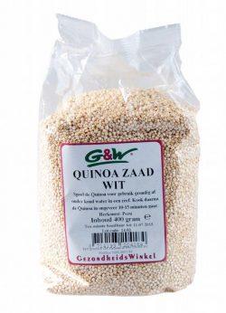 G&W Quinoa zaad Wit 400gr