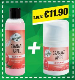 It's Wonderful Granaatappel Bodylotion en It's Wonderfull Granaatappel Gezichtsmasker