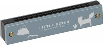 Little Dutch Mondharmonica blauw